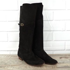 Vintage Nine West Selena 8 black suede riding boot